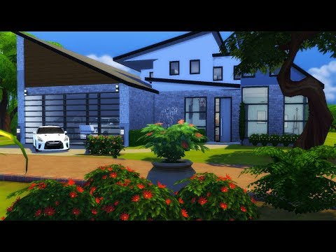 The Sims 4//Speed Build// FINISHED MODERN HOME PT. 2 + CC Links😱