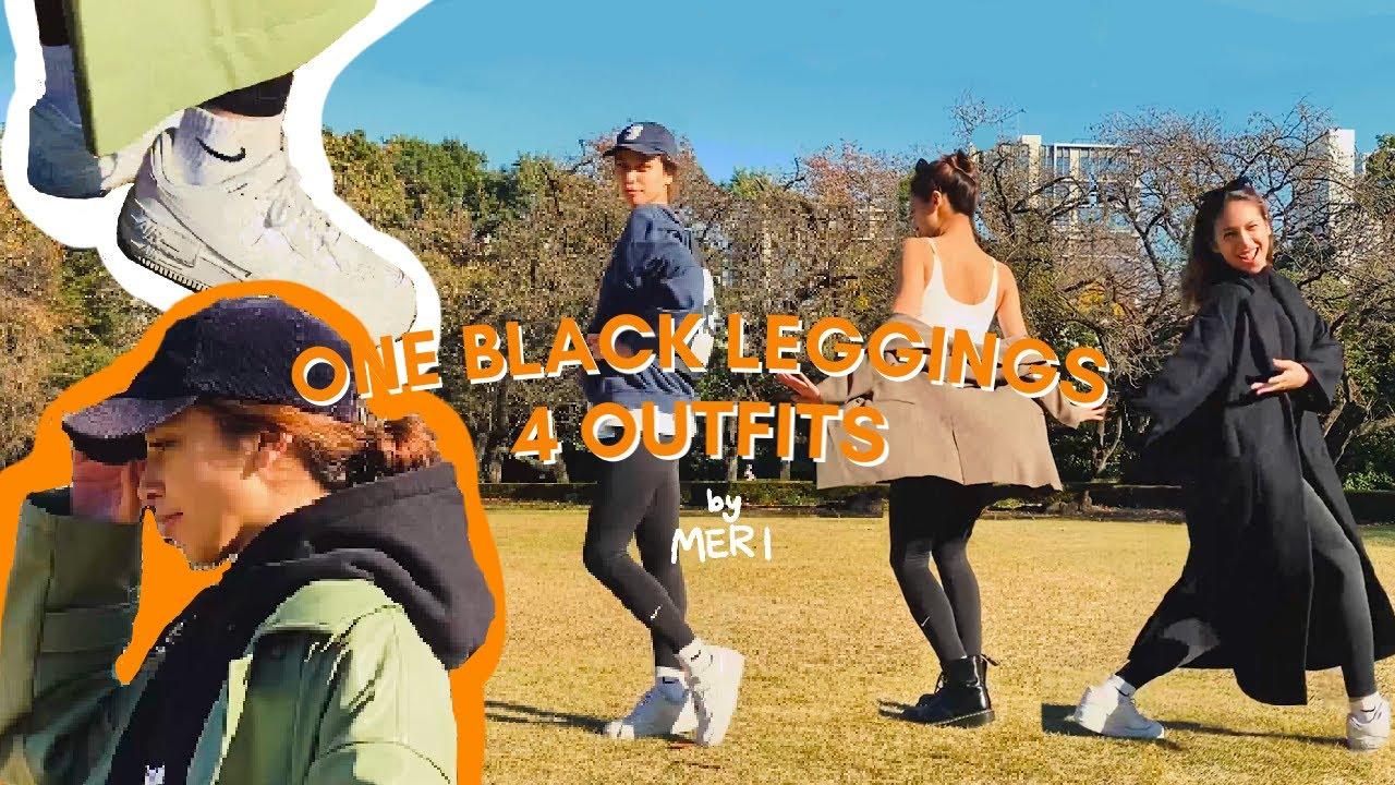 [EF VLOG] One Black Leggings 4 Outfits