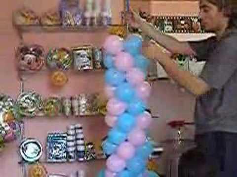 Come creare un arco con i palloncini da 6 youtube - Composizione palloncini da tavolo ...