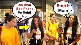 Kajol Angry On Daughter Nysa Devgan For Using Mobile Phone On Airport