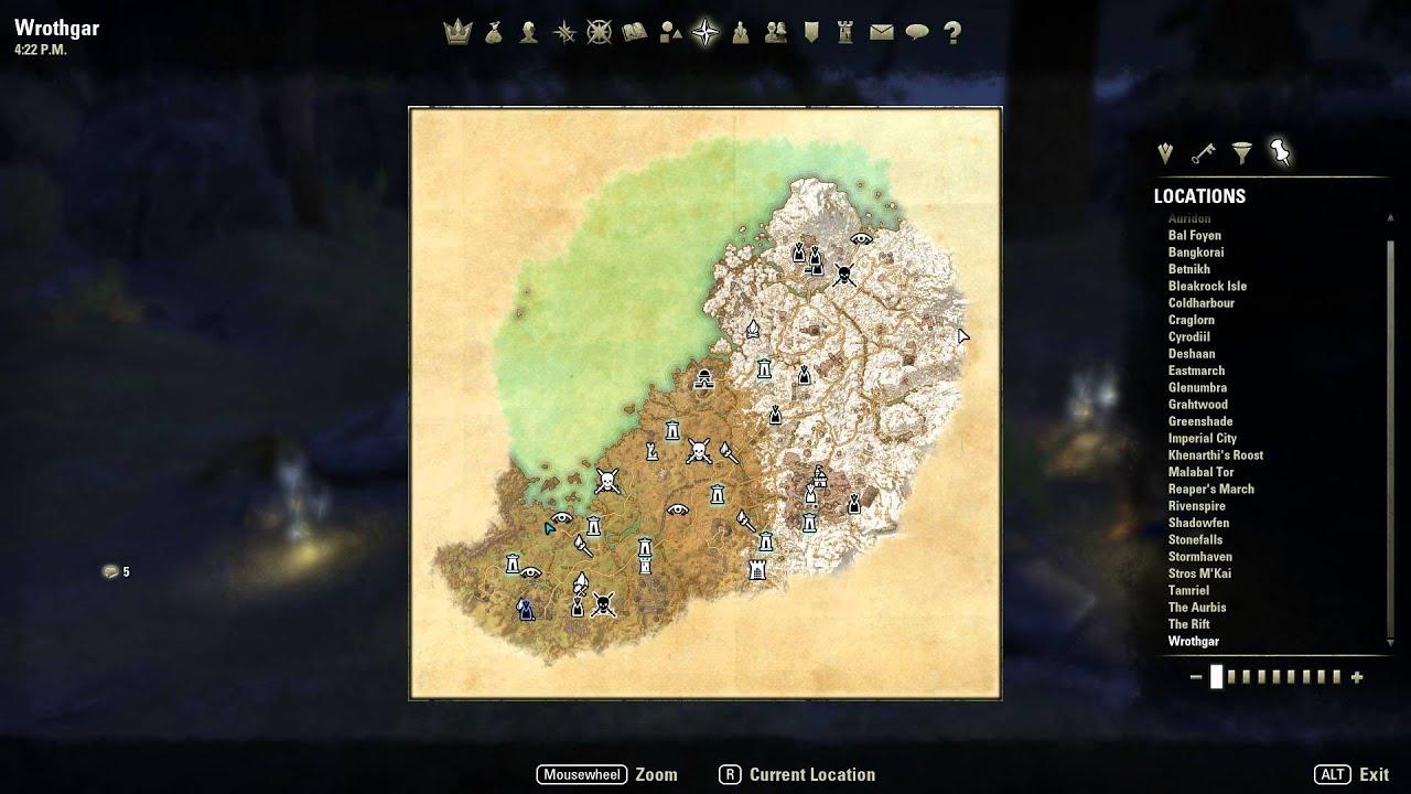 Elder Scrolls Online Eso Alchemist Survey Wrothgar Iii Youtube
