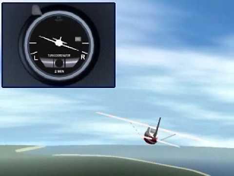 Flight Simulator 98 Turn Coordinator tutorial