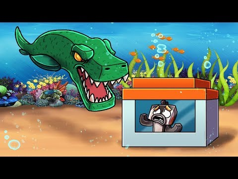 Minecraft | Underwater Dinosaur vs Secure Fortress! (Trap the Mosaurous Challenge)