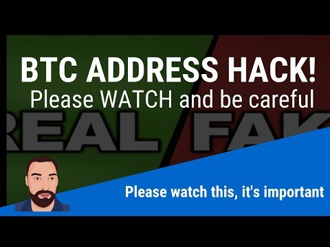 BTC Address HACKED!  PLEASE WATCH IT MAY BE HAPPENING TO YOU!