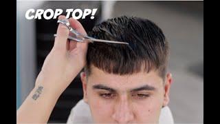 BARBER TUTORIAL: CROP TOP MID-DROP FADE!