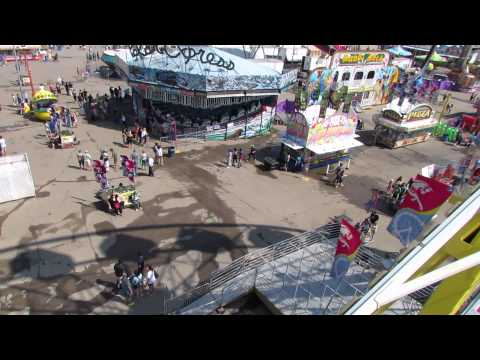 Regina Exhibition - on the Ferris Wheel looking at the Polar Express