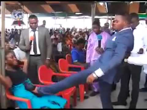 Image result for pastor steps on pregnant woman