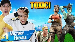 Fortnite But After Every Kill We Act TOXIC! Duo Win With Brother!