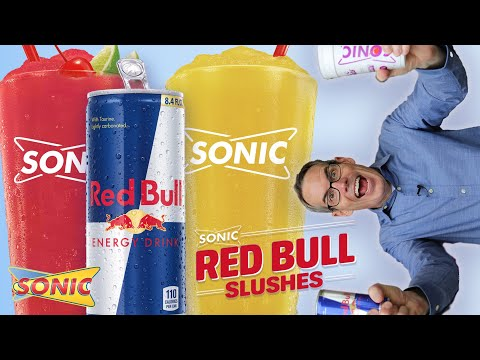 Trying New SONIC Red Bull Slushes!