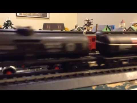 Pennsylvania Railroad K-4 Passes Railway Express Agency Truck