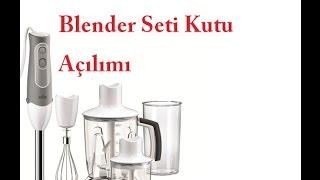 Braun MQ545 Aperatif Blender Seti Kutu Açılımı