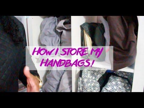 & Handbag Storage and Organization - DIY Handbag Shelf! - YouTube