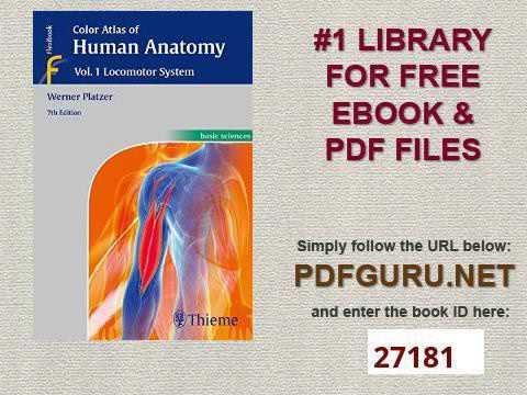 Color Atlas of Human Anatomy Vol 1 Locomotor System - YouTube
