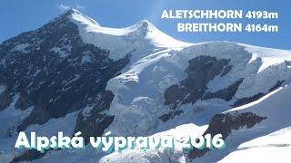 Aletschhorn 4193m , Breithorn 4164m
