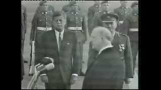 devalera welcomes jfk to ireland