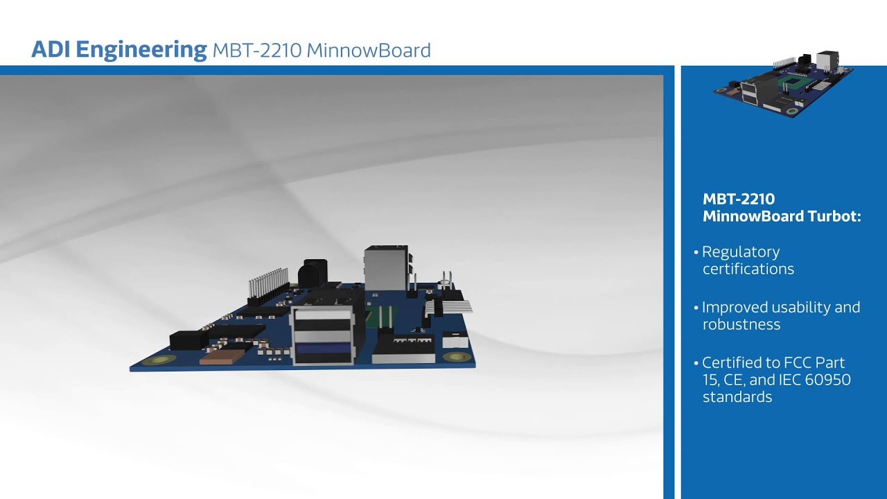 New at Mouser - ADI Engineering MBT-2210 MinnowBoard Turbot