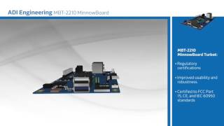 New at Mouser –ADI Engineering MBT-2210 MinnowBoard Turbot