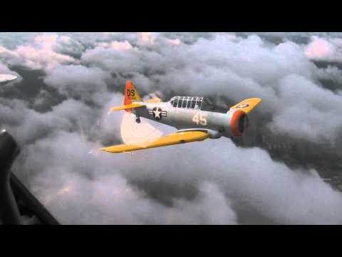 T-6 Texan Formation Flight (Air-To-Air): NATA Clinic 3/25/12
