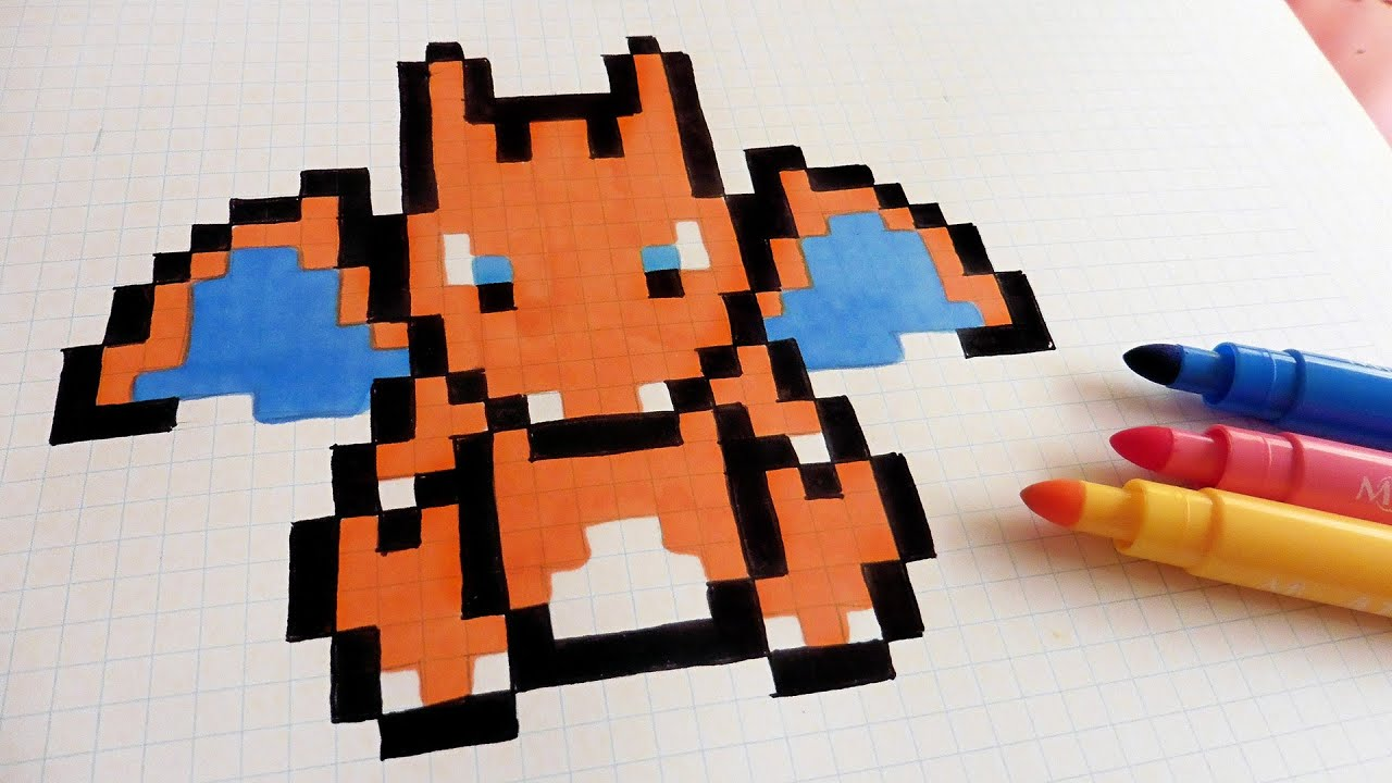 Handmade Pixel Art How To Draw Charizard Pixelart