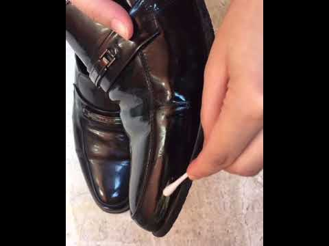 How to remove scratch/scuff marks on patent leather shoes