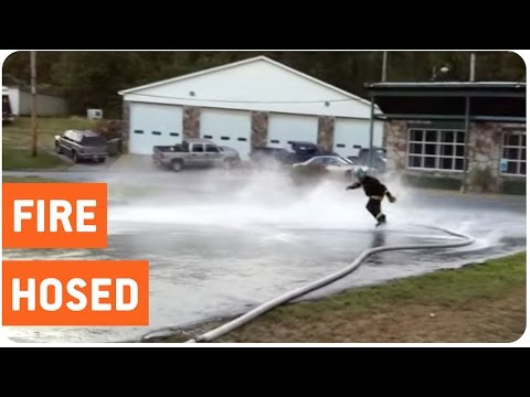 Firefighter Get Owned By Hose | Rookie Mistake