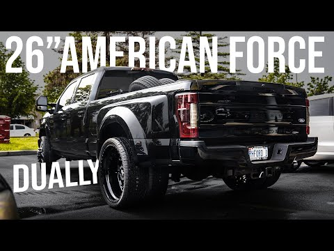 "FORD F350 DUALLY 26"" AMERICAN FORCE 81 RAPTOR 