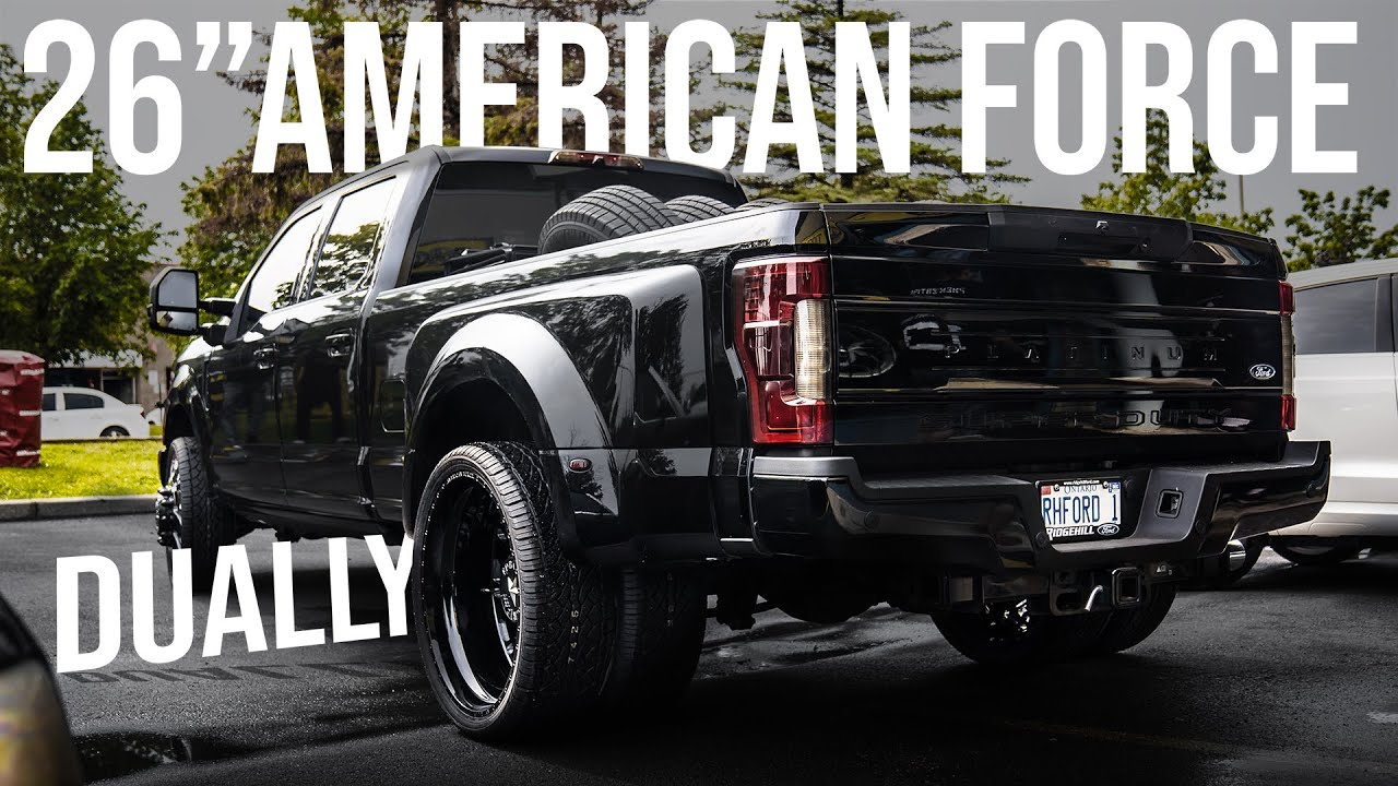 Ford F350 Dually 26 American Force 81 Raptor Premiertire Ca Youtube