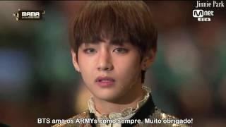 BTS Ganha Daesang de Artista do Ano no MAMA 2016 [Legendado]