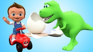 Dinosaur Colors Eggs - Little Baby Fun Ride Color Dinosaurs Learning Kids Educational Video