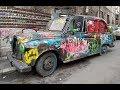 Abandoned Hackney Austin FX4 cab.