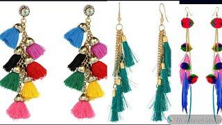 Latest Earrings Collection || Tassel & Pom pom Earrings || 2019 earrings collection