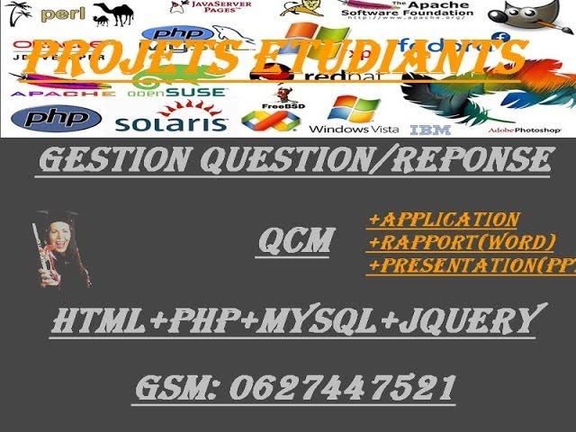 Application  QCM(html+php+mysql+jquery)