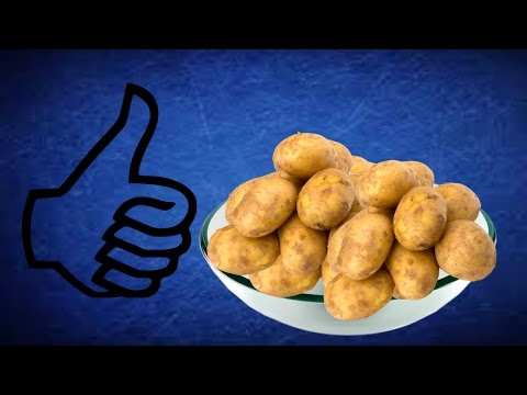 How to clean potatoes very fast