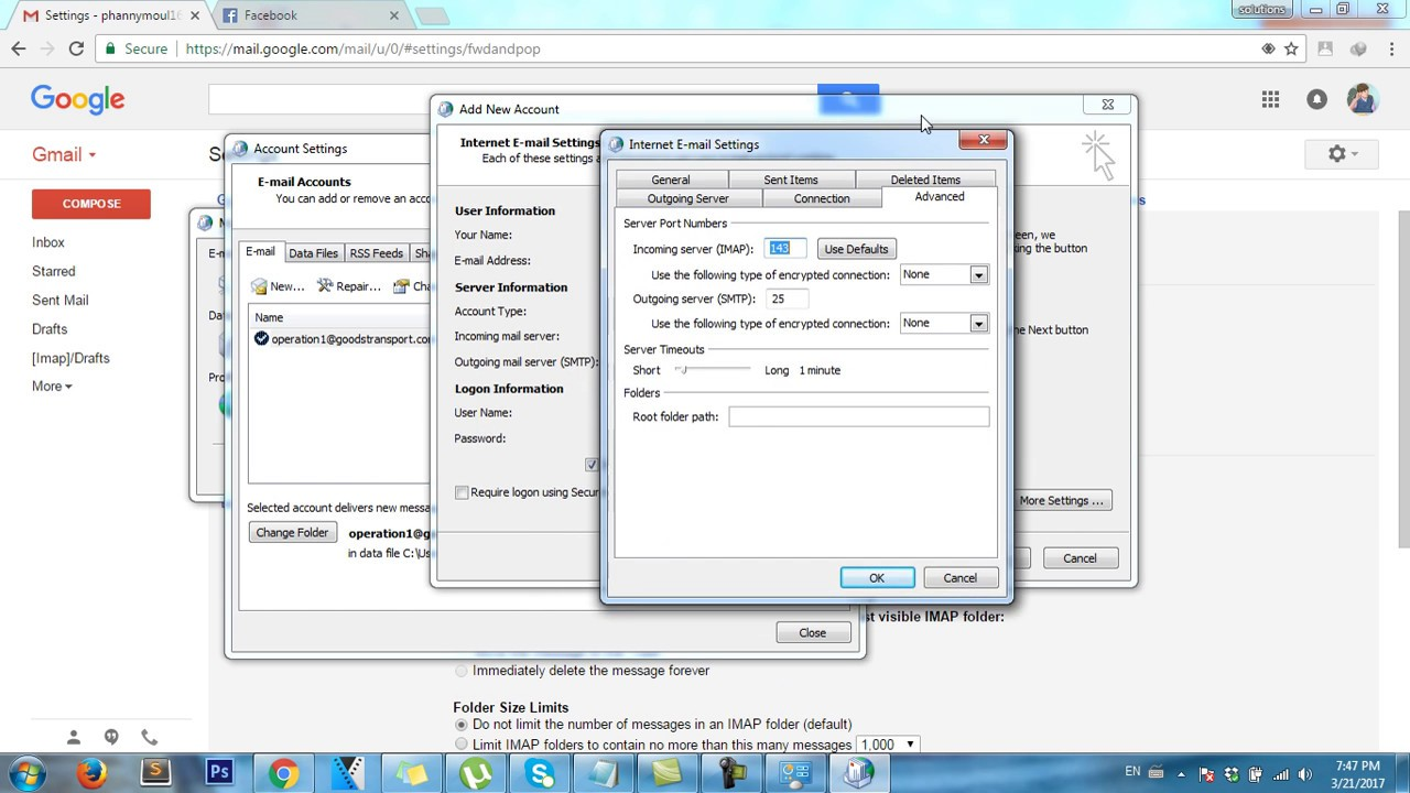 Microsoft Outlook | Configure gmail with Microsoft outlook [Imap ...