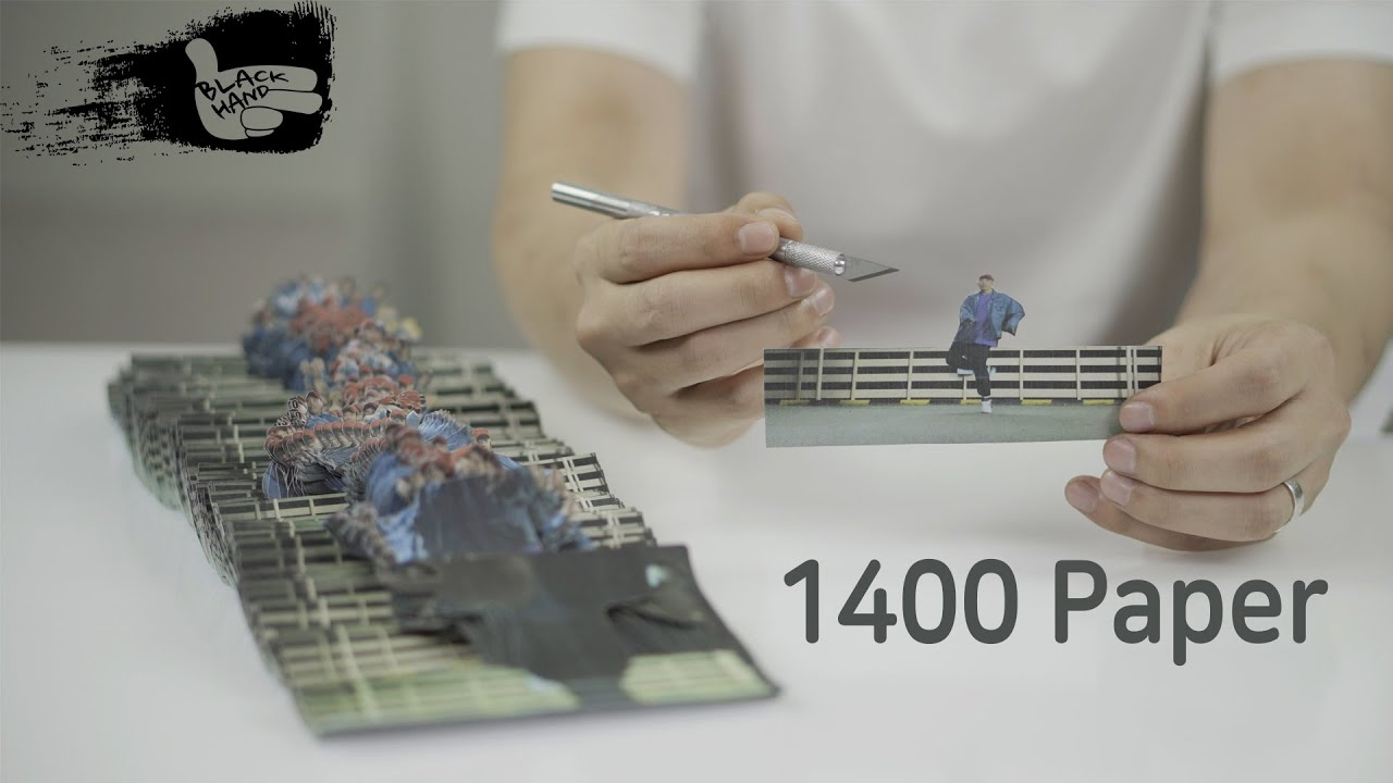 Stop-motion dance video with 1,400 pieces of paper cut