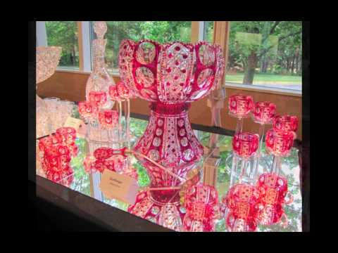 American Brilliant Cut Glass Rarities Display