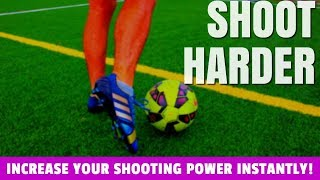 How To Shoot A Soccer Ball Hard With Power (Technique  Form)