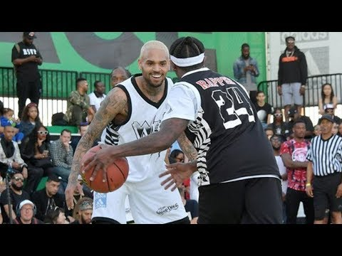 Chris Brown 2018 NBA Celebrity All-Star Game Highlights
