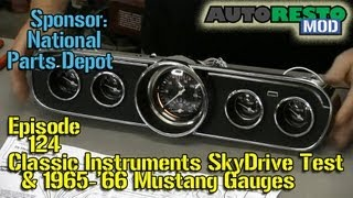 Classic Instruments SkyDrive, '65 '66 Mustang Instrument panel build Episode 124 Autorestomod