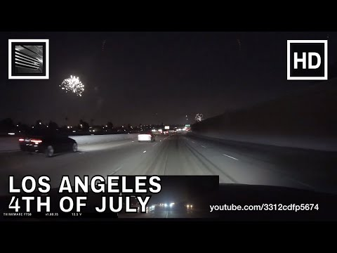 4th of July fireworks 2016 Los Angeles Interstate 5