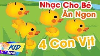 Nhạc Cho Bé Ăn Ngon - Một Con Vịt - Năm Ngón Tay Ngoan | LK Nhạc Thiếu Nhi Cho Bé