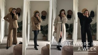 What I Wore In A Week
