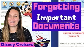 Missing Disney Cruise Line Check-In Documents