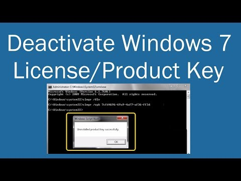 Deactivate Windows 7 License Or Product Key | PCGUIDE4U