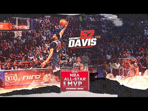 Anthony Davis 2017 All-Star MVP | Breaks Wilt