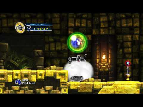 Sonic the Hedgehog 4: Episode 1 (Steam) - Part 3 (Lost Labyrinth / Chaos Emerald 7) |