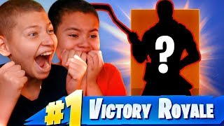 SURPRISING JAYDEN WITH HIS FIRST SKIN EVER!!! *EMOTIONAL* FORTNITE BATTLE ROYALE 10 YEAR OLD BROTHER