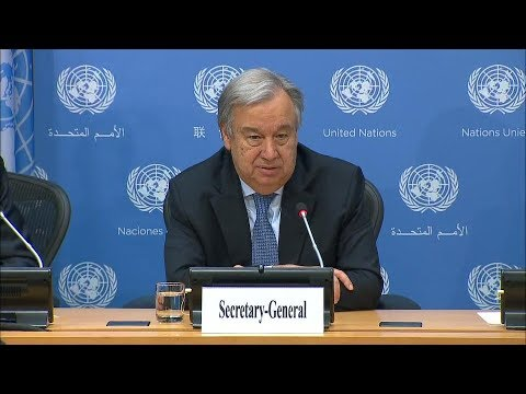 António Guterres (UN Secretary-General) - Press Conference (20 June 2017)