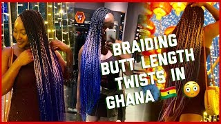 Braiding my Hair in GHANA for the 5th time in 7 YEARS and this is what happened