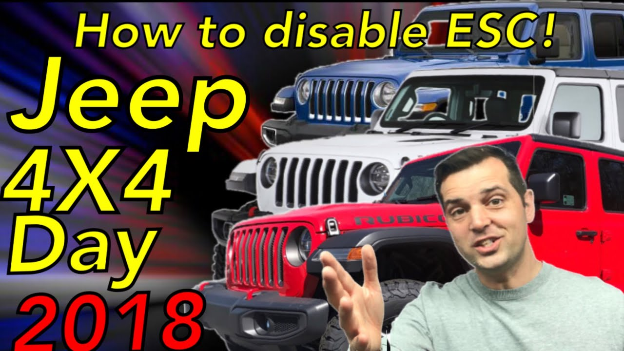 Jeep 4X4 Day 2018  How to turn off ESC in 4 high on Jeep Wrangler JL